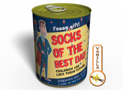 Canned Gifts - Best Dad Socks Gag Gifts for Dad - 1 Pair Quality Hot pepper Man Cotton Socks - Fun Father's Day Gift Idea - Funny Quirky Useful Gifts and Present for Dad for Christmas and Birthday 650181561823