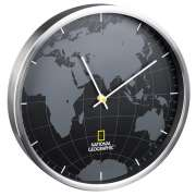 Часы настенные National Geographic World Map Aluminium (9080000)