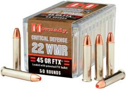 Патрон Hornady Critical Defense кал. 22 WMR пуля FTX масса 2,9 г (45 гран)