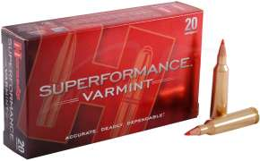 Патрон Hornady Superformance кал. 22-250 Rem пуля V-Max масса 3,24 г /50 гран